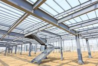 Structural Steel Building With Mezzanine Floor For Office Or Stock System
