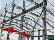 Fast Assembled Garage Steel Frame With C Purlin / Prefab Building Construction