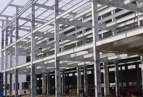 Q345B H Section Car Garage Steel Frame For Commercial Center / Aircraft Hangars