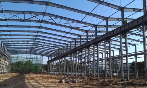 1500㎡ Workshop Steel Structure With Colored Steel Sheets Tiles &walls