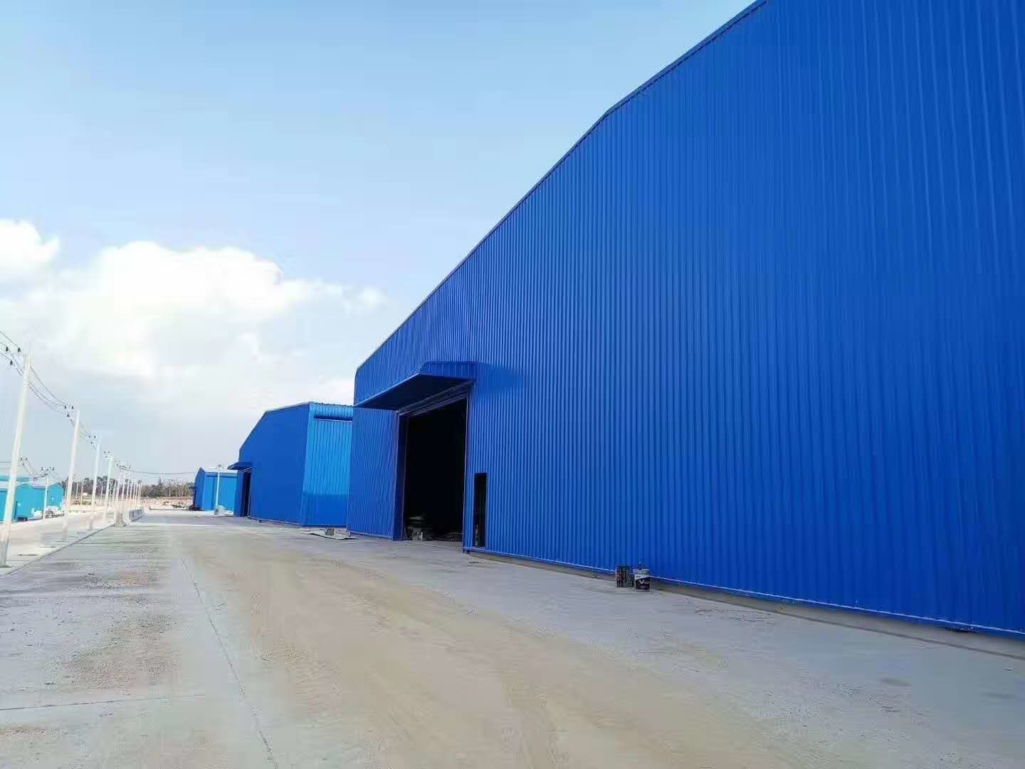 Environment Friendly Poultry Farm Structure With Blue Steel Claddings